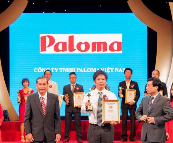 """Paloma Việt Nam nhận danh hiệu """" Top 100 Thương hiệu dẫn đầu Việt Nam – 2016″"""